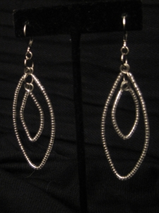 Silver Loop with Clear Crystal Beads