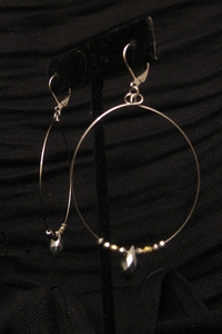 Silver/Gold Nuggets with Teardrop Silver Swarovski