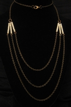 "30"" Antique Gold with Pearls"