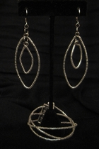 Silver with Clear Crystal Beads Set