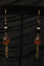 Antique Gold with Tiger Glass Bead and Swarovski Bead