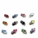 Crystal and Enamel Flip Flop Illusion Band Toe Ring