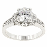 CZ 3 Carat Framed Solitaire Ring