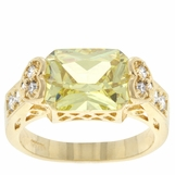 Peridot Emerald Solitaire Ring