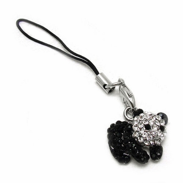 Crystal Panda Bear Cell Phone Charm