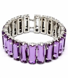 Purple Baguette Stretch Bracelet