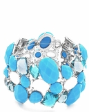 Turquoise Multi Mixed Stone Stretch Bracelet