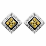 Princess Canary CZ Earrings