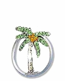 Crystal Tropical Palm Tree Illusion Band Toe Ring