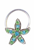 Crystal Tropical Starfish Illusion Band Toe Ring