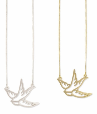 Bird In Flight Necklace
