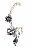 Jet Crystal Fox and Mixed Charms Bracelet