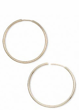 Gold Filled Invisible Hoop Earirngs