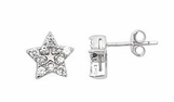 CZ Star Sterling Silver Earrings