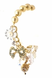 Topaz Crystal Fox and Mixed Charms Bracelet