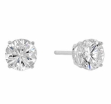 3-Carat CZ Sterling Silver Stud Earrings