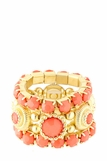 Coral Stone Stacking Ring Set