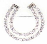 Swarovski Crystal Double Row Horseshoe Pin