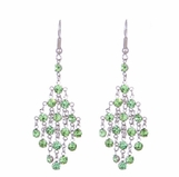 Peridot Crystal Chandelier Earrings