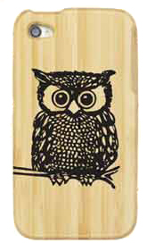 Owl Bamboo iPhone 4/4s Case