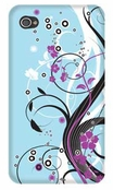 Glam Blue Fusion 4/4S iPhone Case