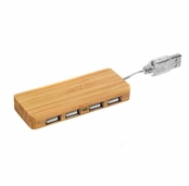 Glam Naturale Honey Bamboo USB Hub