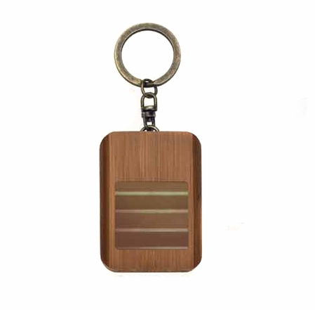 Glam Naturale Walnut Bamboo Solar Purse Light