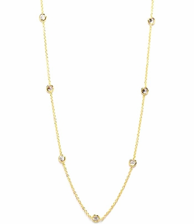 Crystal by the Yard Gold Necklace