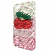 Full Crystal Cherries Iphone 4 Cell Phone Case