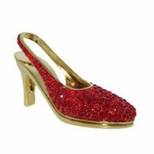 Swarovski Siam Crystal High Heel Shoe