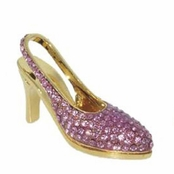 Swarovski Rose Crystal High Heel Shoe