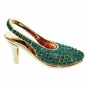 Swarovski Emerald Crystal High Heel Shoe