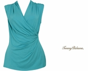 Ming Jade Tambour Sleeveless Shirred Top by Tommy Bahama