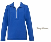 Turkish Sea Aruba Half Zip Sweatshirt by Tommy Bahama