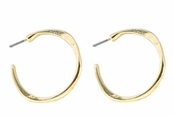 Baked Beads Gold Plated Post Hoop Earrings