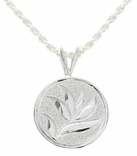 Bird of Paradise Medallion Sterling Silver Pendant Necklace