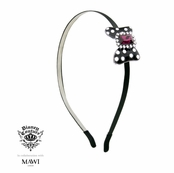 Disney Couture Minnie Mawi Black Minnie With Fuchsia Crystal Bow Headband