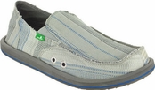 Men's Grey and Blue Donny Sidewalk Surfers by Sanuk