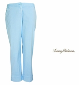 Pastel Blue Jet Away Everyday Crop Pants by Tommy Bahama