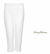White Jet Away Everyday Crop Pants by Tommy Bahama