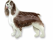 English Springer Spaniel Sterling Silver Enameled Pin