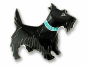 Scottish Terrier Sterling Silver Enameled Pin