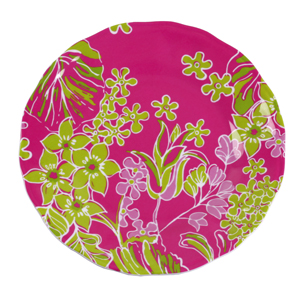 Lilly Pulitzer Set Of 4 Melamine Plates - Luscious