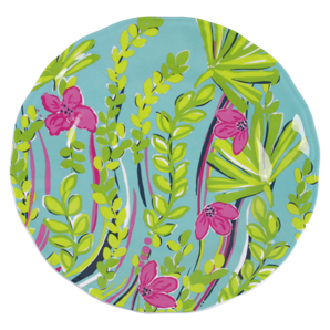 Lilly Pulitzer Set Of 4 Melamine Plates - Nice To See You
