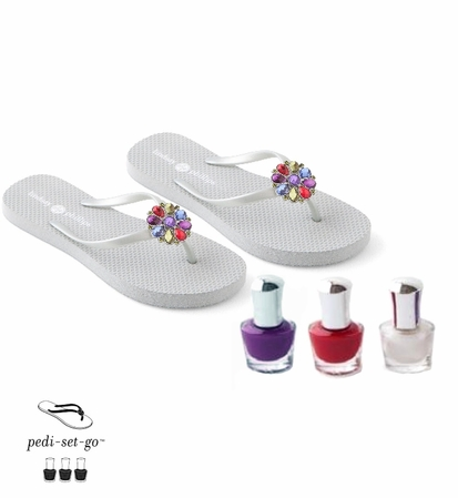 Lindsay Phillips Pedi-Set to Go Flip Flop Giftset