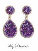Swarovski Crystal Violet AB Rock Crystal Teardrop Earrings by Liz Palacios