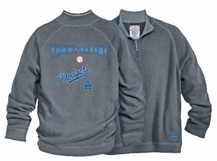 Los Angeles Dodgers Half Zip Sweatshirt by Tommy Bahama