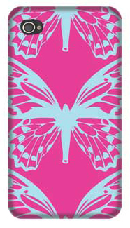 Glam Butterfly Bliss 4/4S iPhone Case