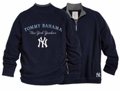 New York Yankees Half Zip Sweatshirt by Tommy Bahama