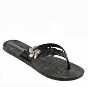 Black and Grey Flor Flip Flops by iPANEMA
